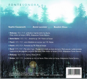 Fonte sonora arriere