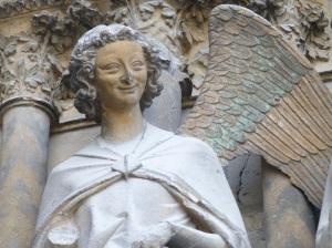 Cathédrale de REIMS- Ange de l'Annonciation, dit l'Ange au sourire.