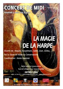Affiche La  magie de la harpe3-04-2015